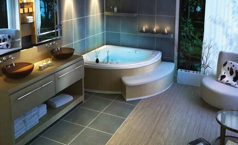 Melt your stress away in a redesigned bathroom