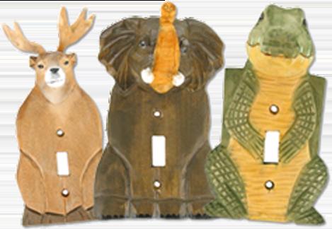 3-D Wooden Animals