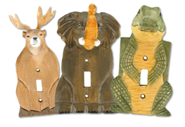 3-D Wooden Animals