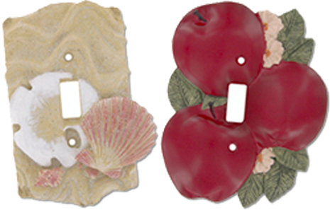 3 Dimensional Light Switch Plates - Outlet Covers