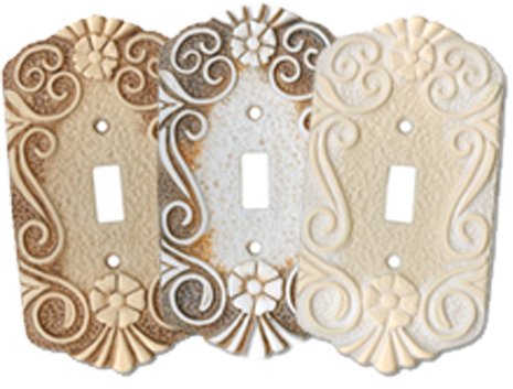 Antigua Light Switch Plates - Outlet Covers