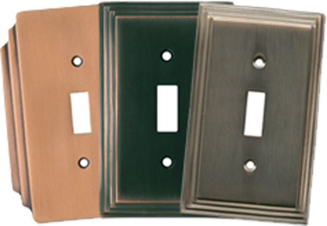 Art Deco Period Light Switch Plates - Outlet Covers