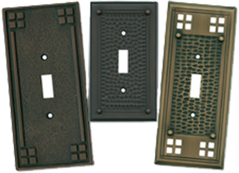 Arts & Crafts Period Light Switch Plates - Outlet Covers