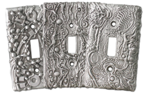 Artsy Pewter Light Switch Plates - Outlet Covers