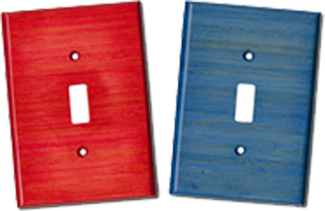 Bamboo Colored Light Switch Plates - Outlet Covers