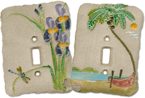 Beach Condo Light Switch Plates - Outlet Covers