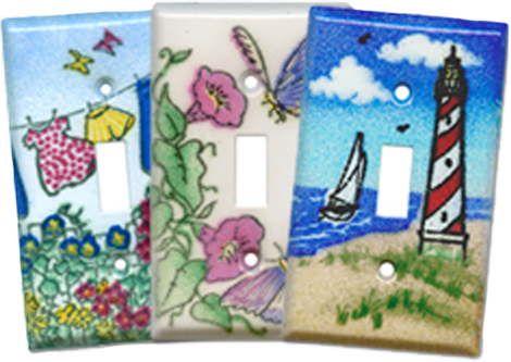 Beach to Garden Light Switch Plates - Outlet Covers