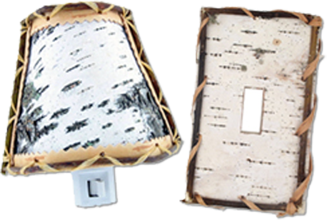 Birch Bark Light Switch Plates - Outlet Covers