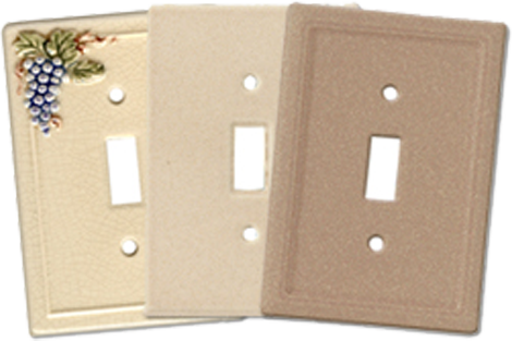 Classic Ceramic Light Switch Plates - Outlet Covers