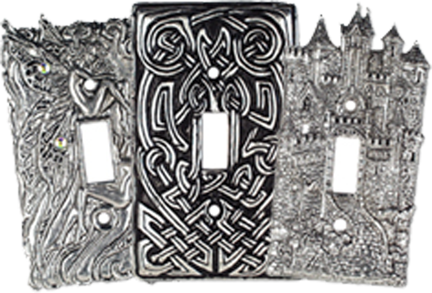 Classic Pewter Light Switch Plates - Outlet Covers