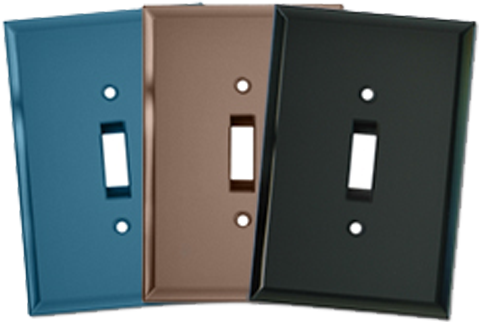 Colored Glass Light Switch Plates - Outlet Covers
