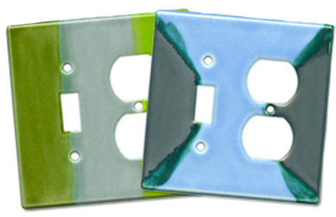 Funky Ceramic Light Switch Plates - Outlet Covers
