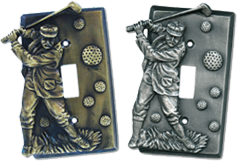 Golfer Light Switch Plates - Outlet Covers