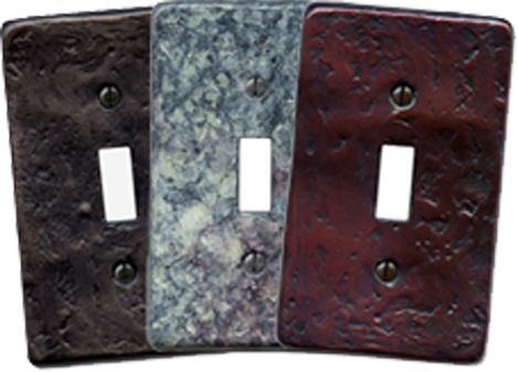Hand Cast Bronze Light Switch Plates - Outlet Covers