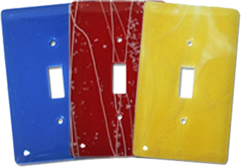Hand Crafted Glass Light Switch Plates - Outlet Covers