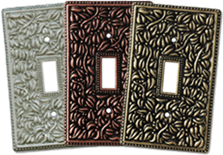 Hand Crafted Pewter Light Switch Plates - Outlet Covers