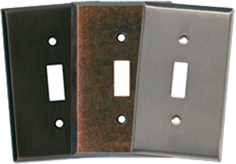 Heavy Forged Metal Light Switch Plates - Outlet Covers