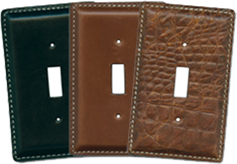 Leather Light Switch Plates - Outlet Covers