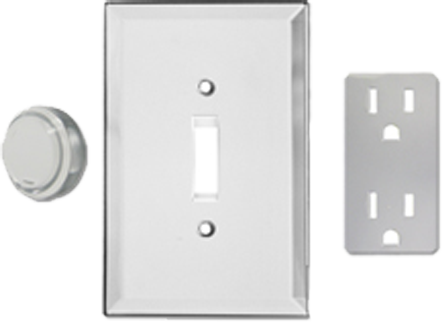 Real Glass Mirror Light Switch Plates - Outlet Covers