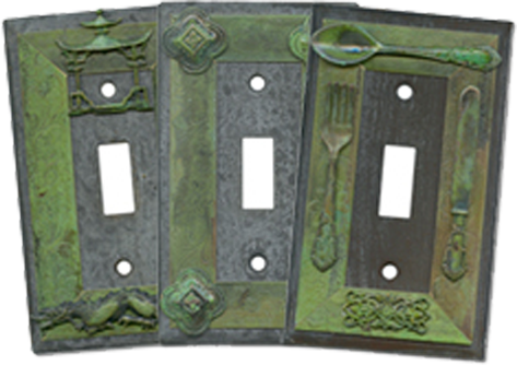 Rustic Theme Light Switch Plates - Outlet Covers