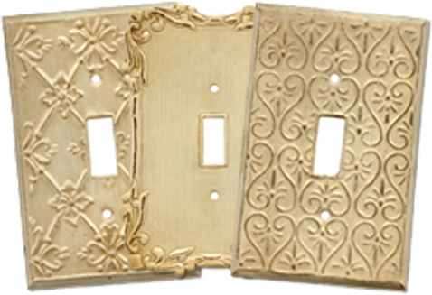 Shabby Chic Light Switch Plates - Outlet Covers