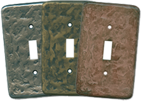 Textured Brass Light Switch Plates - Outlet Covers