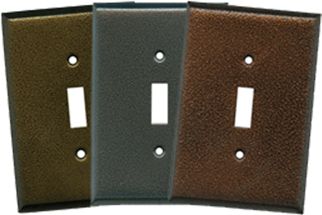 Textured Metal Light Switch Plates - Outlet Covers