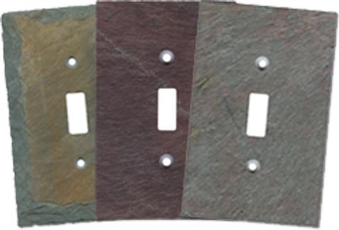 Vermont Slate Light Switch Plates - Outlet Covers