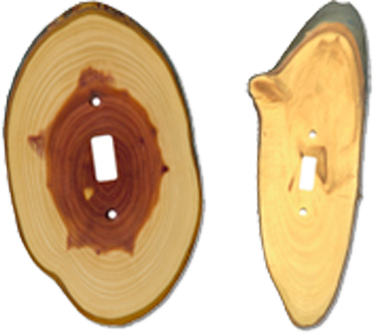 Wood Slices Light Switch Plates - Outlet Covers
