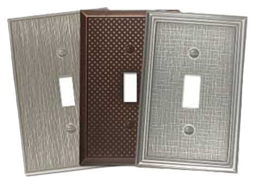 Classy Metal Light Switch Plates - Outlet Covers