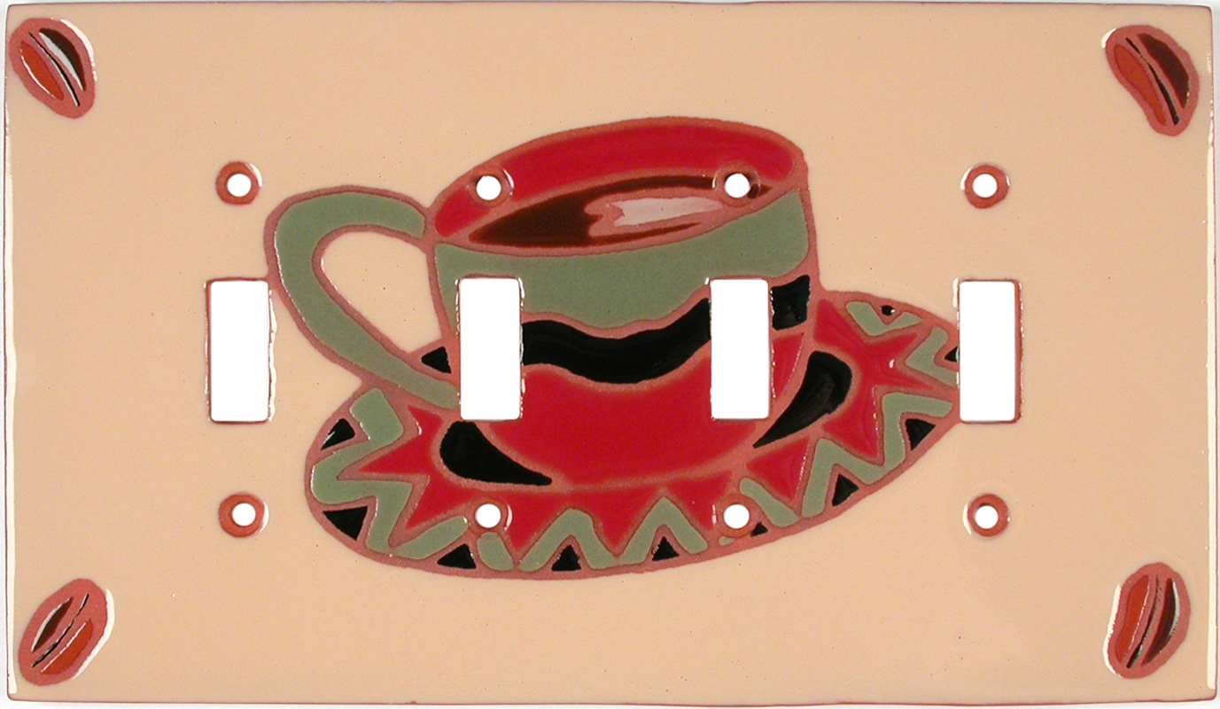A Good Cup Quad 4 Toggle Light Switch Covers