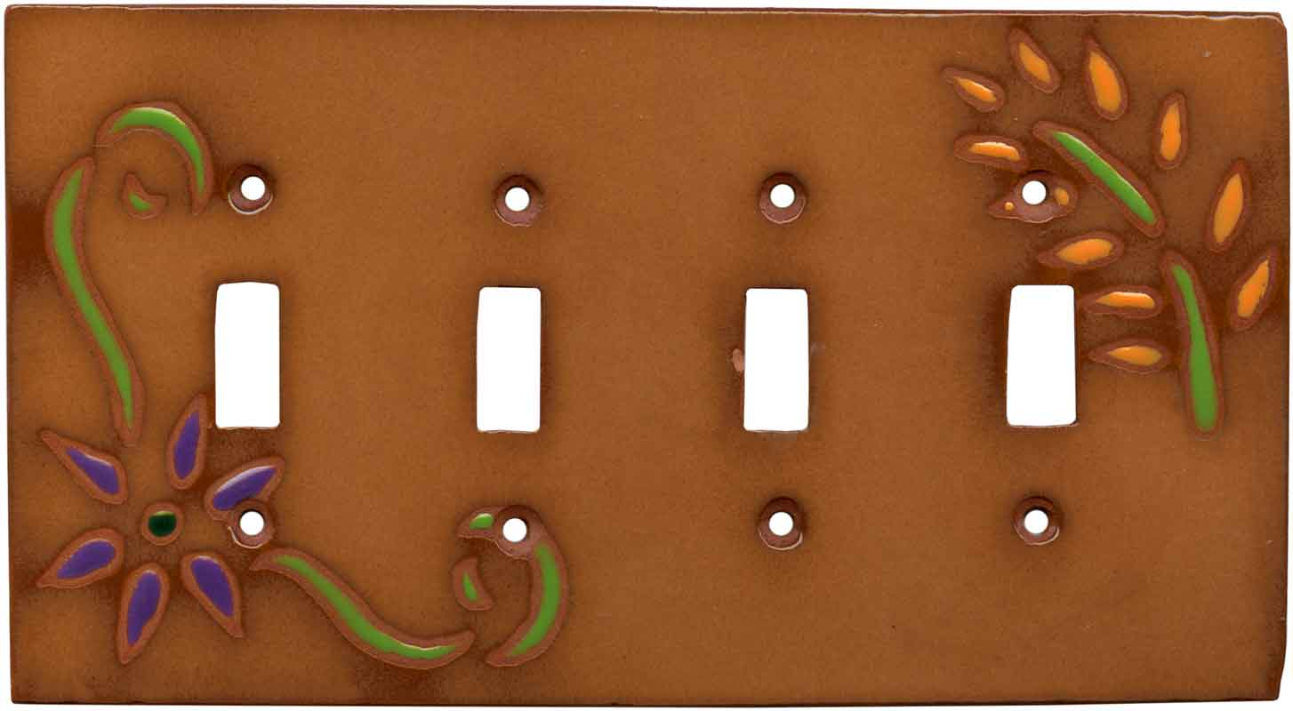 After the Desert Rain Quad 4 Toggle Light Switch Covers
