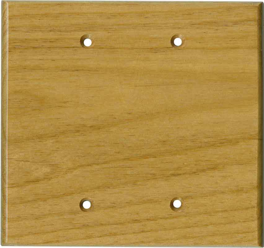 Alder Satin Lacquer Double Blank Wallplate Covers