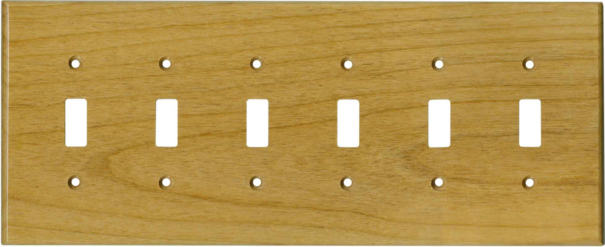 Alder Satin Lacquer 6 Toggle Light Switch Covers