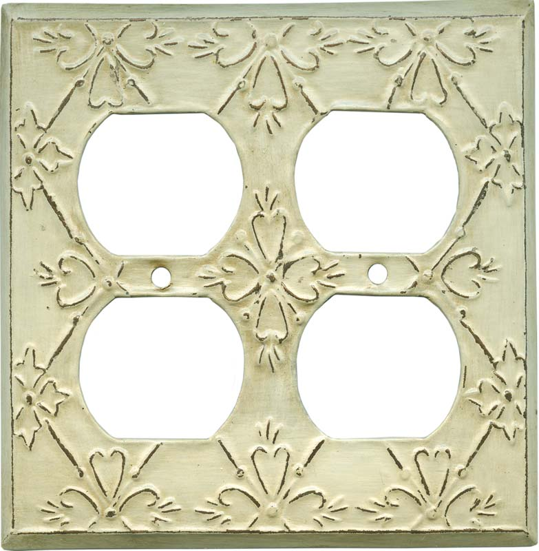 Baroque2 Gang Duplex Outlet Wall Plate Cover