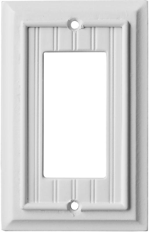 Beadboard White Single 1 Gang GFCI Rocker Decora Switch Plate Cover