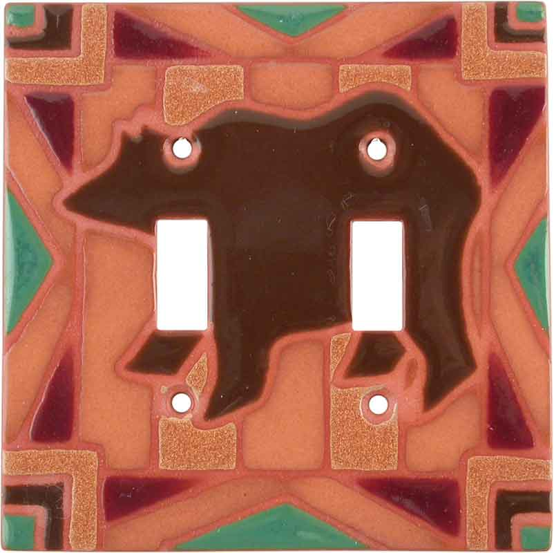 Bear Blanket - Double Toggle Switch Plates