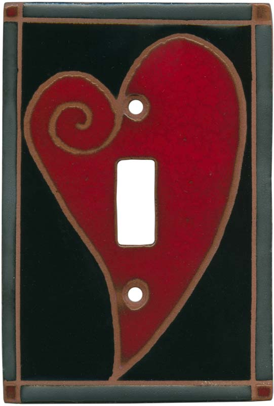 Big Red Heart Light Switch Decor Outlet Covers