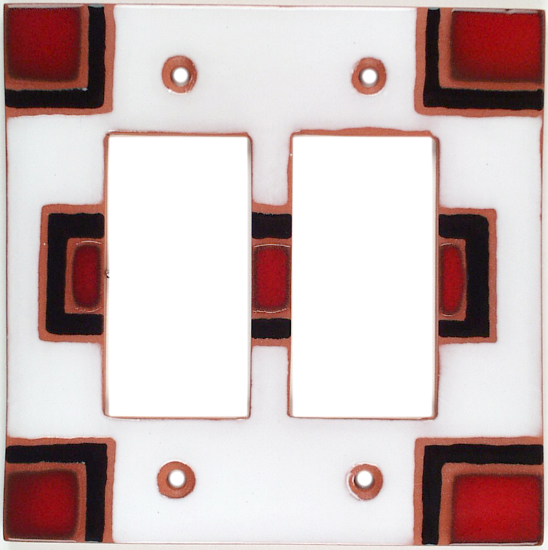 Blanket 64 2 Gang Double GFCI Rocker Decorator Wallplates