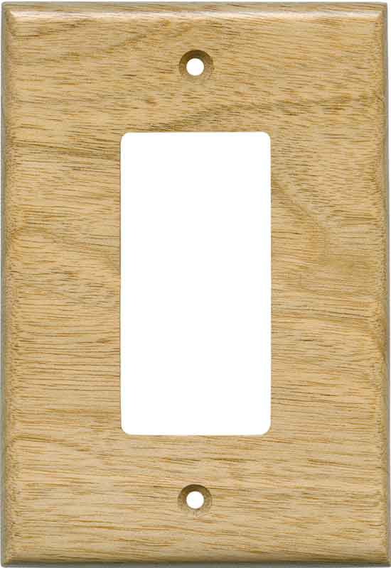 Butternut Satin Lacquer - GFCI Rocker Switch Plate Covers