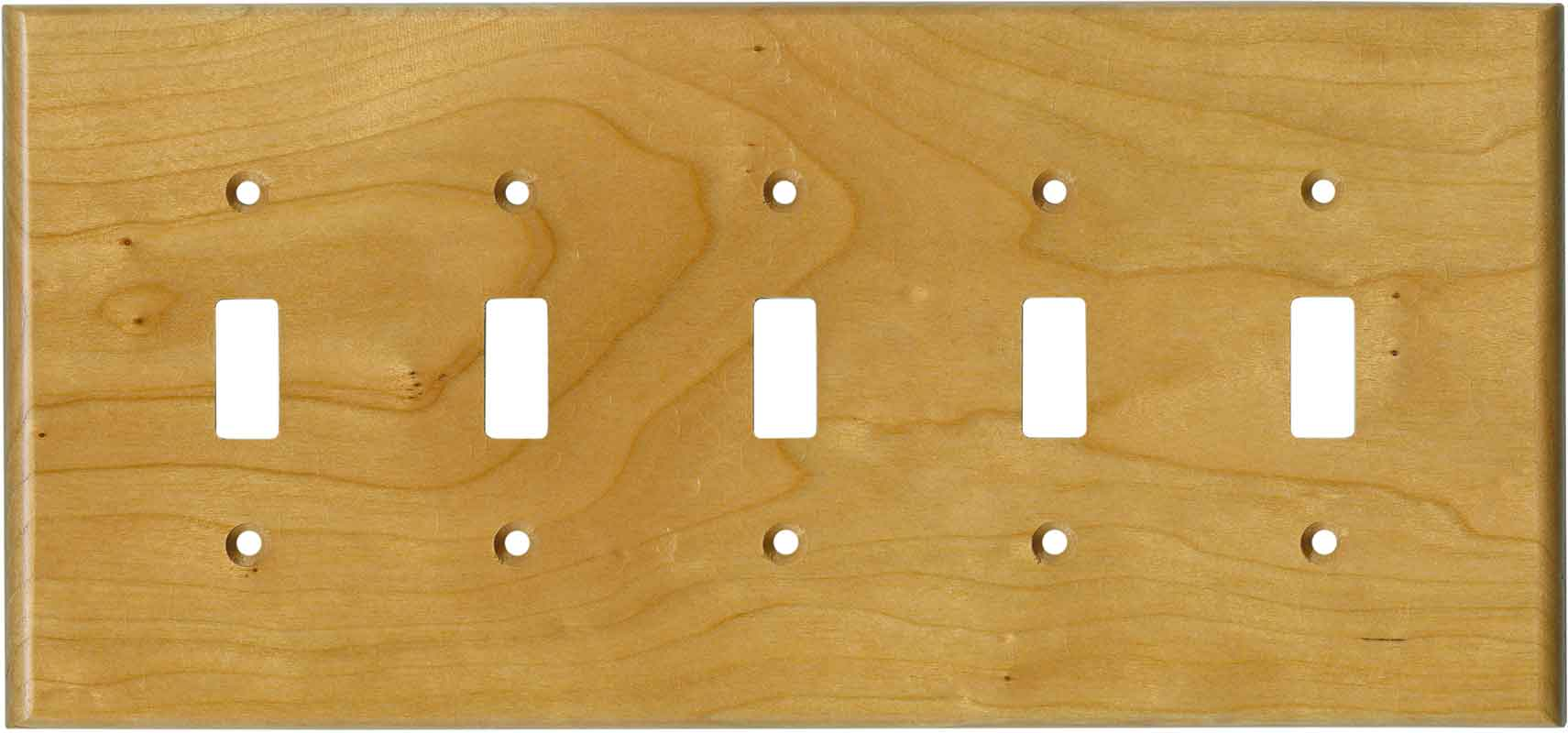 Cherry Satin Lacquer - 5 Toggle Wall Switch Plates