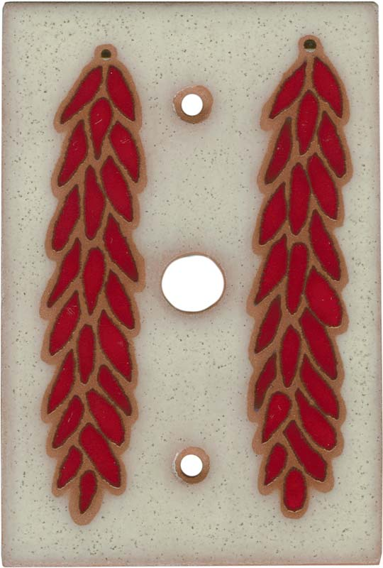 Chili Braid Ivory Coax Cable TV Wall Plates