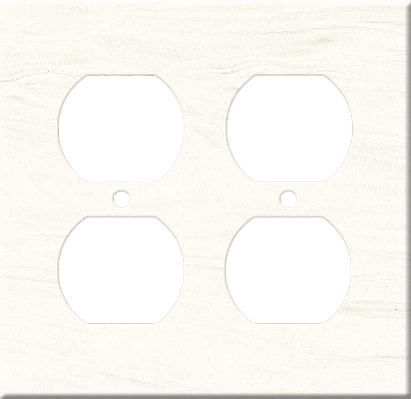 Corian Cirrus White 2 Gang Duplex Outlet Wall Plate Cover
