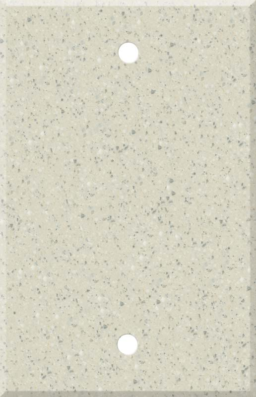 Corian Fossil Blank Wall Plate Cover