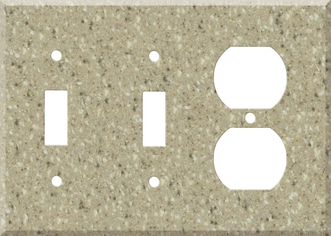 Corian Granola Double 2 Toggle / Outlet Combination Wall Plates