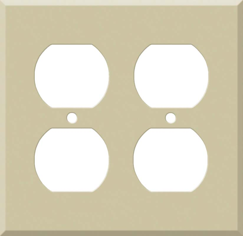 Corian Sand 2 Gang Duplex Outlet Wall Plate Cover