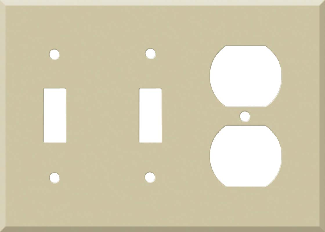 Corian Sand Double 2 Toggle / Outlet Combination Wall Plates