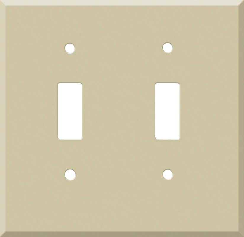 Corian Sand Double 2 Toggle Switch Plate Covers