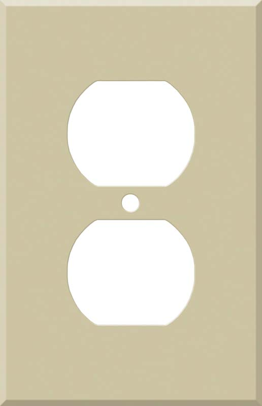 Corian Sand 1 Gang Duplex Outlet Cover Wall Plate