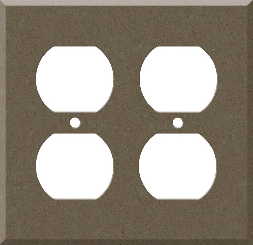 Corian Suede 2 Gang Duplex Outlet Wall Plate Cover